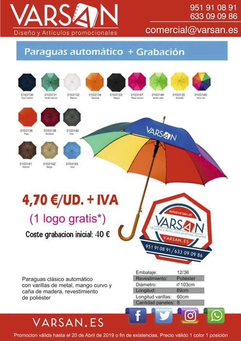 Paraguas en promoción